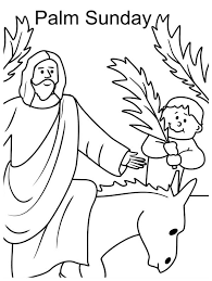 Small Picture Kid Wave Palm Tree Branch in Front of Jesus in Palm Sunday