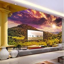 weaeo photo wallpaper modern balcony sunset landscape 3d wall murals living room tv backdrop wall home