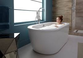 american standard 2764 014m202 011 cadet 66 in freestanding bathtub with tub filler and