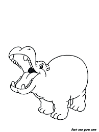 Hippo Coloring Pages Hippo Coloring Pages Online Baby Cartoon