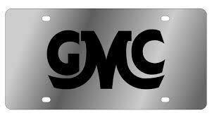 GMC - Stainless Steel License Plate - GMC Retro Logo - Plates ...