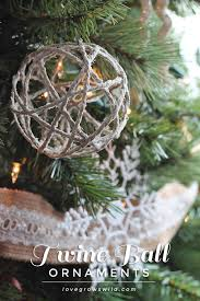 Make Decorative String Balls Extraordinary Twine Ball Ornaments Love Grows Wild