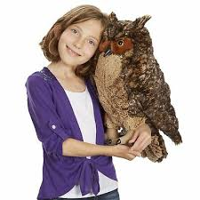 large owl stuffed cuddly toy toddler
