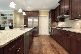 dark cabinets light design granite countertops oak kitchen with warm the