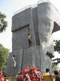 on artificial rock climbing wall in mumbai with arun samant climbing wall goregaon mumbai