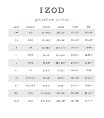 Details About Izod Girls Dazzle Collar School Uniform Top Navy Light Blue And White Shirts