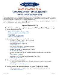 Calculate Gas Required To Pressurize Pipe Or Tank