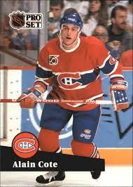 1991-92 (CANADIENS) Pro Set French #417 Alain Cote | eBay