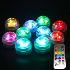 Rgb Led Lampjes Voor Sfeerverlichting En Lampionnen Set Van 10 Lampen Met Batterijen En Afstandsbediening