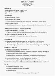 High School Resumes Free Download College Resume Examples For High