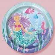 Glitter Mermaid Paper Party Plates Supplies | Ideas Themed