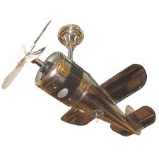 1930u0027s Art Deco Airplane Ceiling Fan For Sale