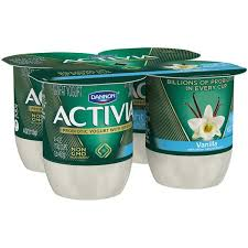dannon activia light vanilla probiotic lowfat yogurt 4pk cups