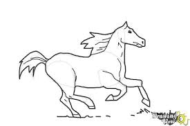 running horse drawing. Perfect Drawing How To Draw A Horse Running  Step 9 Inside Drawing L