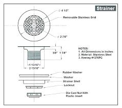 standard shower drain