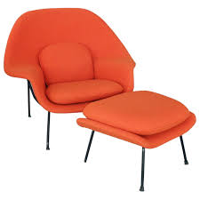 saarinen for knoll womb chair with ottoman for sale at stdibs