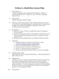Fiction Vs Nonfiction Venn Diagram Direct Lesson Plan Fiction Vs Nonfiction Plans For First Grade