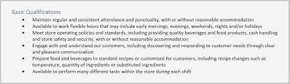 Barista Resume Adorable Barista Resume Sample Starbucks Job Desc Qualifications Fitted Yet