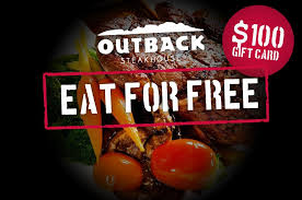 be a secret diner with a free outback steakhouse gift card
