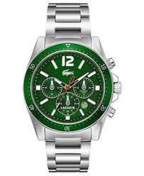 lacoste men s toronto white green watches kol saati lacoste watch men s chronograph seattle stainless steel bracelet 43mm 2010640