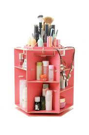 360 degree rotating wood cosmetic organizer makeup box case holder watermelon red health beauty