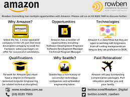 work for amazon in seattle rowben consulting