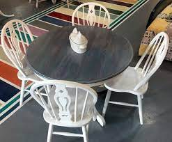 painted kitchen tables kitchen table redo