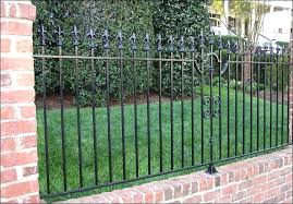 metal fence designs. Wonderful Fence Brick And Metal Fence Minimalist Wrought Iron That Combine With  Fascinating Walls Can Make And Metal Fence Designs