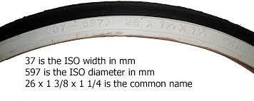 iso sizes for bicycle tires and rims