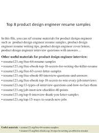 Cover Letter Product Design Top 8 Product Design Engineer Resume