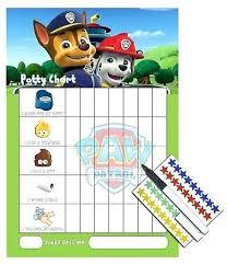 Batman Potty Seat Paw Patrol Sticker Reward Chart For Potty Training