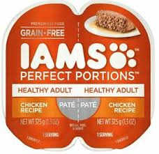 Details About Iams Perfect Portions Pate Healthy Adult Chicken Wet Cat Food 48 Servings