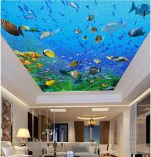3d Ceiling Design Wallpaper 3d Ceiling Murals Wallpaper Custom Photo Oil Painting Style Dazzling Sea World Living Room Home Decor 3d Wall Murals Wallpaper For Walls 3 D Free