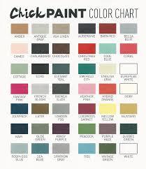 Coral Paint Color Chart White Chick Paint Chalk Paint