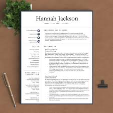 professional resume template the hannah landed design solutions professional resume template the hannah perfect resume templates 1