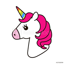 Fotografie Obraz Unicorn Vector Icon Isolated On White Posterscz