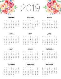 Calendar Year 2019 Printable Free Printable 2019 Planner 50 Plus Printable Pages The Cottage