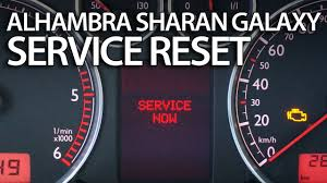 2014 Vw Transporter Inspection Light Reset How To Reset Service Reminder In Sharan Galaxy Alhambra