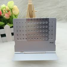 perpetual calendar mini aluminium alloy stand table calendar office desktop planner flip monthly desk calendars