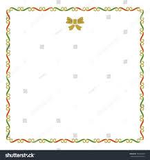 Christmas Notecard Golden Red Green Empty Christmas Border Stock Vector Royalty Free