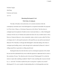 philosophy argument paper philosophy argument paper 1 vaughn nicholas vaughn john kaag existence and anxiety 12 17 13 dismissing kierkegaard s