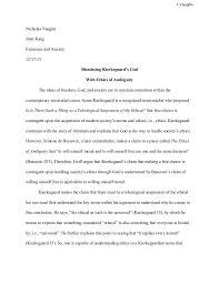 philosophy argument paper philosophy argument paper 1 vaughn nicholas vaughn john kaag existence and anxiety 12 17 13 dismissing kierkegaard s