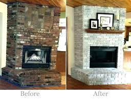 resurface brick fireplace with concrete refacing tile redoing marble firep