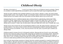 childhood obesity speech gcse english marked by teachers com document image preview
