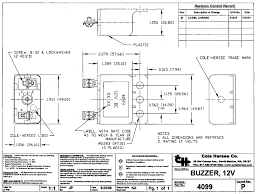 cole hersee 4099 universal 12v buzzer impact resistant case data sheet