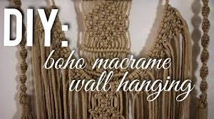 Macrame Wall Hanging Diy Boho Macrame Wall Hanging Diana Moore Youtube