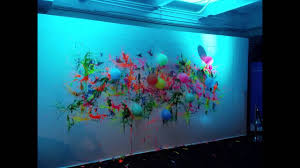 glow in the dark paint for wallsGlow in the Dark NeonBlacklight Balloon Dart Wall with