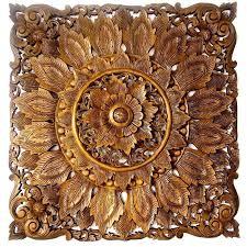 floral l 120 cm 47 inch wood carving reclaimed teak  on tiki wood wall art with floral l 120 cm 47 inch wood carving reclaimed teak wood