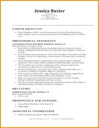 Nursing Resume Objectives Objective For Rn Resume Entry Level Resume Objective Examples 33