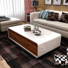 glossy white coffee table coffee table drawers super saving space living room modern white high gloss